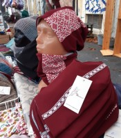 ULIZE Handmade  cotton hat with a warm fleece lining